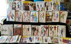 Vintage Costume Sewing Patterns Lot Most Are Uncut. Halloween , Etc.