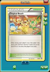 DIGITAL Tropical Beach for Pokemon TCGO online with quick delivery $30.00
