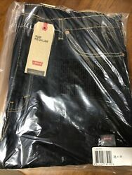 Leviand039s Menand039s 505 Regular Fit Jeans Size 38x32 Stretch Dark Blue Brand New