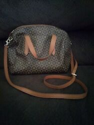 fossil crossbody bag purse leather brown $15.99