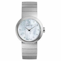 Christian Dior Cd041110m004 Baby D 23mm Womenand039s Diamond Stainless Steel Watch