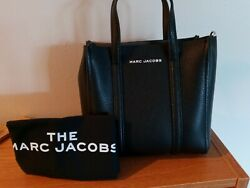 NEW WITH TAGS Marc Jacobs Women#x27;s Mini E the Shopper Leather Tote Black $300.00
