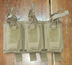 Firstspear 5.56 Triple Speed Reload Pistol Mag Pouch 6/9 Molle Coyote Brown Used