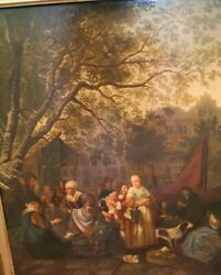 Rare Antique Oil Painting On Wood Panel Attrib Dutch Golden Age Artist 1600and039s
