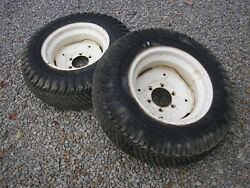 Case Ingersoll 446 Tractor Goodyear Rear Turf Tires Rims 8-16