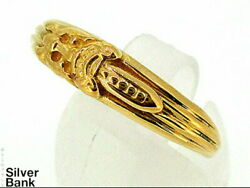 Chrome Hearts Baby Classic Dagger Ring 22k Yellow Gold 13.5 Issue Mens Women And039s