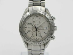 New Omega 3211.30 Speedmaster Date 39mm Ss Chronograph Automatic Winding Mens
