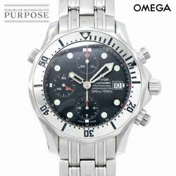 Omega Seamaster Professional Chronograph 2598 80 Mens Wristwatch Date Navy Dial
