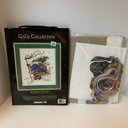 Vtg Dimensions Gold Collection 8477 Christmas Windswept Traveler Cross Stitch