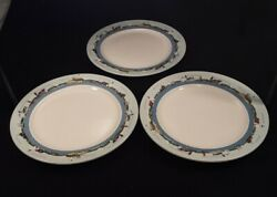 Set Of 3 Ll Bean Vacation Land Lighthouse 11 1/4 Inch Dinner Plates