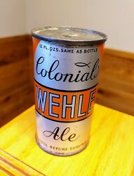 Colonial Wehle Ale O/i Flat Top Beer Can - Rarer Long Opener Version - Nice