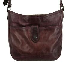 Frye Leather Bags Shoulder 34DB127 Melissa Button Crossbody Purse Oxblood Red $109.99