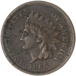 1865 Indian Head Cent Very Fine Penny Vf Details Spots See Pics G549