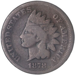 1878 Indian Head Cent Good Penny Gd See Pics J230