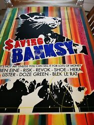 Saving Banksy - Risk - Signed - Large Screen Print - Hand Finished