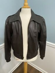 Cooper The Fonz 44 Fonzie Leather Jacket Vintage A2 Mens Rare Motorcycle Bomber