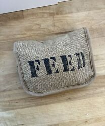 Feed 100 Children of the World zipped Burlap Cotton Tote Bag Collapsable $23.95