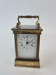 Antique L'epee Fondee En 1839 Carriage Clock Sainte Suzanne France Working