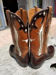 Rodney Ammons Vintage Hand Made Cowboy Boots 10d Alligator Excellent Condition
