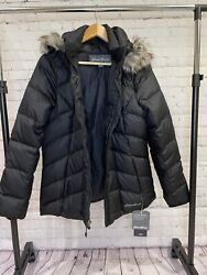 Eddie Bauer Classic Hooded Down Jacket Women New With Tags Size Large