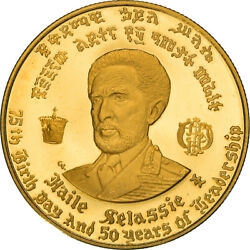 [867734] Coin, Ethiopia, Haile Selassie, 20 Dollars, 1966, Proof, Ms63, Gold