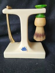 Vintage Old Spice Shaving Stand With Razor And Brush
