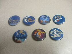 Mcdonalds Vintage Mac Tonight Pins Button Pinback - 7 Different, New Old Stock