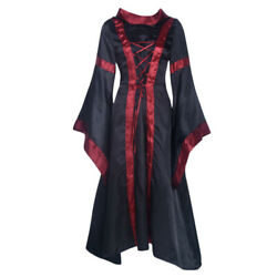 US Halloween Party Women Long Dresses Witch Cosplay Costume Fancy Dress Outfits $19.99