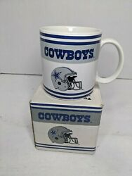 Vintage Nfl Football Russ Berrie Coffee Mug Cup Dallas Cowboys Used Imperfect