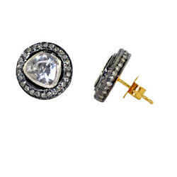 1.37ct Diamond 14kt Gold 925 Sterling Silver Stud Earrings Jewelry Gift For Girl
