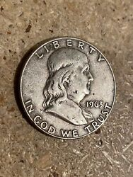 1963 Franklin Half Dollar With 90 Silver Content Minted In Denver