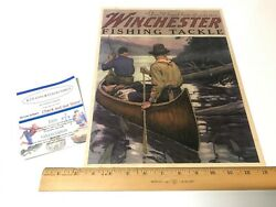 Winchester Fishing Tackle Youand039ll Land Him Vintage Early Paper Ad