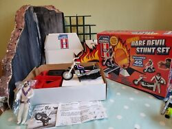 Evil Knievel Deluxe Dare Devil Playset With Box And Manual Complete Nice Con