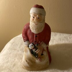 Fenton Glass Collectible Santa With Bag Of Toys-limited Edition- New