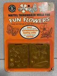 Fun Flowers 1968 Sealed Card Molds For Creepy Crawlers Thingmaker 60's Mattel 1.