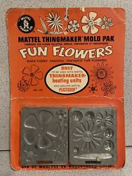 Fun Flowers 1968 Sealed Card Molds For Creepy Crawlers Thingmaker 60's Mattel 2.