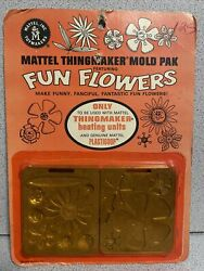 Fun Flowers 1968 Sealed Card Molds For Creepy Crawlers Thingmaker 60's Mattel 3.