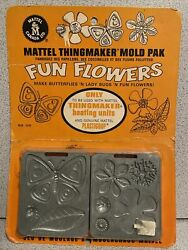 Fun Flowers 1968 Sealed Card Molds For Creepy Crawlers Thingmaker 60's Mattel 4.