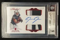 2019 Panini Flawless Josh Jacobs Rookie Dual Patch Auto Rc Ruby 12/15 Bgs 9🔥