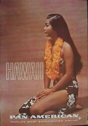 Pan Am Airways Airlines Hawaii Women Of The World Vintage Travel Poster 1964