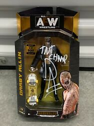 Aew Unrivaled Rare 1/500 Darby Allin Action Figure Jazwares Rare Signed