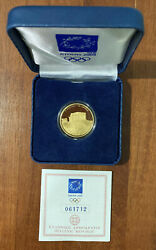 2004 Olympic Games In Athens 100 Euro 10 Grams Proof Gold Coin