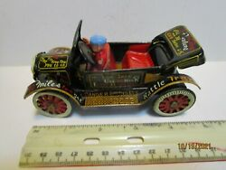 Vintage Marx Line Mar Tin Friction Convertible Jalopy Excellent And Works