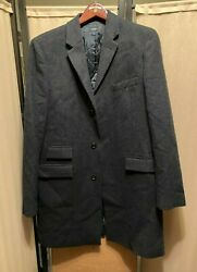 J. Crew Authentic Yorkshire Tweed Wool Mayfair Topcoat Menand039s Size Large Tall