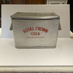 Vintage Royal Crown Rc Cola Picnic Advertising Metal Cooler Ice Chest 23x16x14