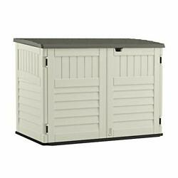 Suncast 5' X 3' Horizontal Stow-away Storage Shed - Natural Wood-like Outdoor St