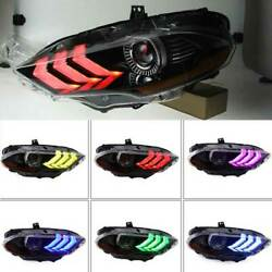 For Ford Mustang 2018-2020 Led Colorful Day Running Light + Angel Eyes Headlight