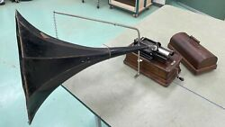 Edison Standard Phonograph Model D With Morning Glory Horn 2/4 Minute Speeds
