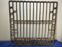 Antique Oven Grate Old Wood Cook Stove No Cracks 18 1/8 X 17 1/2