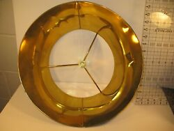 Vintage Bouillote Lamp Brass Metal Shade Shade Only Round 15